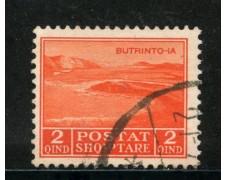 1930 - ALBANIA - 2q. ROSSO ARANCIO - USATO - LOTTO/29636