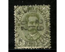1891 - REGNO - 45c. UMBERTO I° - USATO - LOTTO/29858