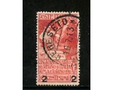 1913 - REGNO - 2 SU 10c. ROSSO UNITA' D'ITALIA - USATO - LOTTO/29868