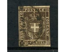 1860 - TOSCANA GOV. PROVVISORIO - 10c. BRUNO - USATO - LOTTO/2993A