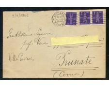 9/6/1946 - REGNO DI UMBERTO I° - BUSTA DA COMO PER CITTA' AFFR.CON VALORI DI POSTA AEREA - LOTTO/29976