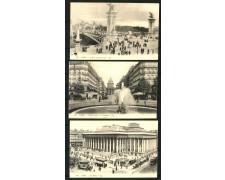 PARIGI - FINE 800 PRIMI 900 - INSIEME DI 17 CARTOLINE NUOVE AUTENTICHE - LOTTO/29978