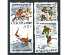 1976 - TCHAD - OLIMPIADI DI MONTREAL 4v. - USATI - LOTTO/29990