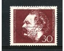 1966 - GERMANIA FEDERALE - WERNER VON SIEMENS - USATO - LOTTO/30931U