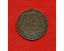1867- REGNO - 2 CENTESIMI VITTORIO EMANUELE II° - LOTTO/M30217