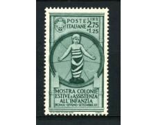 1937 - REGNO - 2,75+1,25c. COLONIE ESTIVE - NUOVO - LOTTO/30013