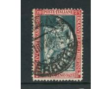 1928 - REGNO - 25c. EMANUELE FILIBERTO - USATO - LOTTO/30024
