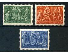 1943 - UNGHERIA - NATALE 3v. - LINGUELLATI - LOTTO/30051