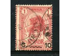 1906/16 - SOMALIA - 10c. SU 1 ANNA ROSSO - USATO - LOTTO/30057