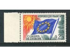 1963/71 - FRANCIA - 25c. CONSIGLIO D'EUROPA - NUOVO - LOTTO/ 30064