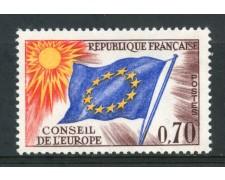 1963/71 - FRANCIA - 70c. CONSIGLIO D'EUROPA - NUOVO - LOTTO/ 30069