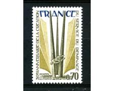 1975 - FRANCIA - 70c. SERVIZIO DI SMINAMENTO - NUOVO - LOTTO/30073