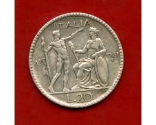 1927 - REGNO D'ITALIA - 20 LIRE ARGENTO LITTORE - LOTTO/M30094