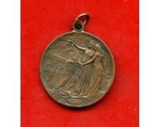 """1906 - ITALIA - MEDAGLIA IN BRONZO  TUNNEL DEL SEMPIONE  """"Ingenium et manus perfoderunt me"""" - LOTTO/M30135"""