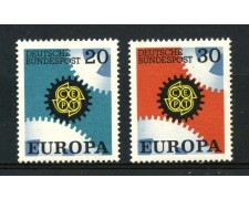 1967 - GERMANIA FEDERALE - EUROPA 2v. - NUOVI - LOTTO/30932