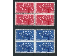 1962 - REPUBBLICA - EUROPA 2v. - QUARTINE NUOVI - LOTTO/6404Q