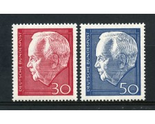 1967 - GERMANIA FEDERALE - PRESIDENTE LUBKE 2v. - NUOVI . LOTTO/30937