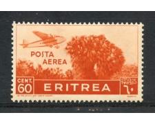 1936 - ERITREA - POSTA AEREA - 60 c. ARANCIO PITTORICA - LINGUELLATO - LOTTO/ERITA19L
