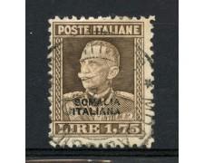 1928/29 - SOMALIA - 1,75 Lire VITTORIO EMANUELE III° - USATO - LOTTO/30239