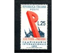 1952 - REPUBBLICA - 30° FIERA DI PADOVA - NUOVO - LOTTO/30418