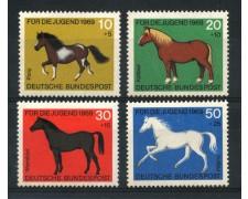 1969 - GERMANIA FEDERALE - PRO GIOVENTU' CAVALLI 4v. - NUOVI - LOTTO/30954