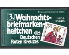 1984/85 - BERLINO - LIBRETTO DI FRANCOBOLLI DI NATALE DELLA CROCE ROSSA - NUOVI - LOTTO/30192