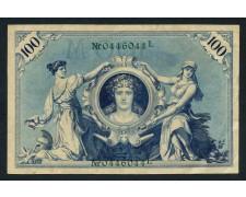 1908 - GERMANIA - 100 MARCHI REICH - LOTTO/30165