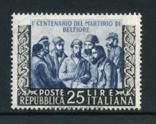 1952 - REPUBBLICA - MARTIRI DI BELFIORE - NUOVO - LOTTO/13255