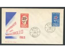 1963 - REPUBBLICA - GIORNATA DEL FRANCOBOLLO - BUSTA FDC - LOTTO/31936