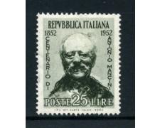 1952 - LOTTO/6193 - REPUBBLICA - 25 L. ANTONIO MANCINI - NUOVO