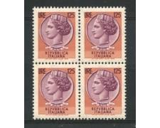 1974 - LOTTO/6595Q - REPUBBLICA - 125 L. SIRACUSANA QUARTINA  - NUOVI