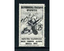 1952 - REPUBBLICA - TRUPPE ALPINE - NUOVO - LOTTO/30419