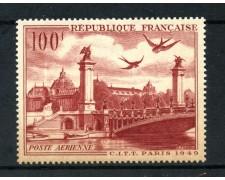1949 - FRANCIA - 100 FR. POSTA AEREA VEDUTA - LINGUELLATO - LOTTO/15436