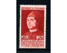 1953 - LOTTO/13261A - REPUBBLICA - ANTONELLO DA MESSINA - NUOVO