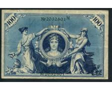 1908 - GERMANIA - 100 MARCHI REICH - LOTTO/30166