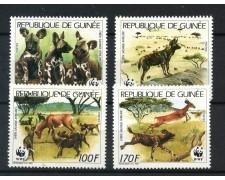 1987 - GUINEA REPUBBLICA - CANI SELVATICI AFRICANI 4v. - NUOVI - LOTTO/20029