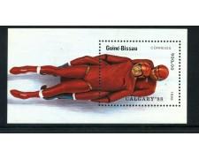 1988 - GUINEA BISSAU - OLIMPIADI DI CALGARY - BOB - FOGLIETTO NUOVO - LOTTO/20143