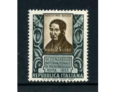 1953 - LOTTO/6219 - REPUBBLICA - MICROBIOLOGIA  A. BASSI - NUOVO