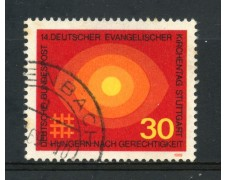 1969 - GERMANIA FEDERALE - 30p. CHIESA EVANGELICA - USATO - LOTTO/30963U