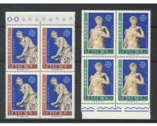 1974 - REPUBBLICA - EUROPA 2v. - QUARTINE NUOVI - LOTTO/6599Q