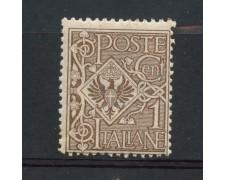 1901 - REGNO - 1 cent. BRUNO  FLOREALE - NUOVO  - LOTTO/30159