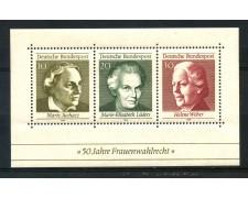 1969 - GERMANIA FEDERALE - VOTO ALLE DONNE - FOGLIETTO NUOVO - LOTTO/30966