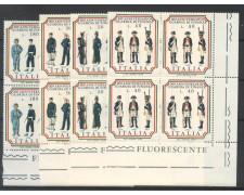 1974 - LOTTO/6601Q - REPUBBLICA - GUARDIA DI FINANZA 4v. - QUARTINE NUOVI