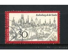 1969 - GERMANIA FEDERALE - 30p. CITTA' DI ROTHENBURG - USATO - LOTTO/30967U