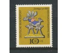 1969 - GERMANIA FEDERALE - 10+5p. NATALE - NUOVO - LOTTO/30973