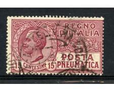 1921 - REGNO - 15c. POSTA PNEUMATICA  - USATO - LOTTO/30241