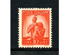 1945 - REPUBBLICA - 10 LIRE ARANCIO DEMOCRATICA  - NUOVO - LOTTO/30252