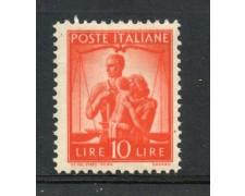 1945 - REPUBBLICA - 10 LIRE ARANCIO DEMOCRATICA - T/LINGUELLA - LOTTO/30253