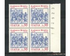 1974 - LOTTO/6608Q - REPUBBLICA - LUDOVICO ARIOSTO - QUARTINA NUOVI
