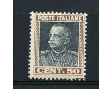 1927 - REGNO - 50c. EFFIGIE DI VITTORIO EMANUELE III° - NUOVO - LOTTO/30255